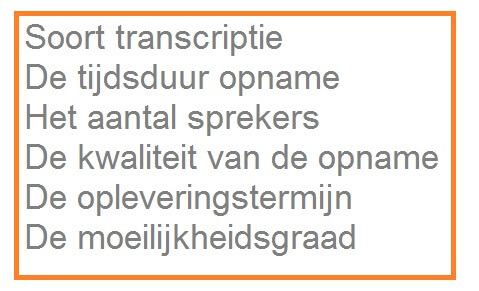 audio uittypen transcriberen