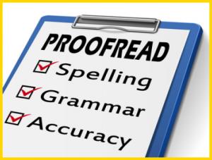 Redigeren en proeflezen van tekst