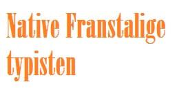 Native Franssprekende typisten